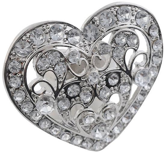 Forever 21 Faux Diamond Heart Ring