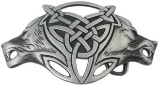 Celtic VIGOROSO Men Gothic Funny Lovely Wild Wolf Fox Double Head Belt Buckle