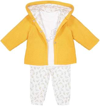 La Redoute Collections Cardigan, T-Shirt and Trousers Outfit, Birth-2 Years