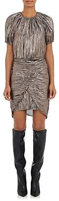 Ulla Johnson Women's Cheri Silk-Blend Lamé Minidress