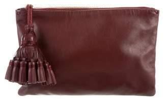Anya Hindmarch Grained Leather Georgiana Tassel Clutch