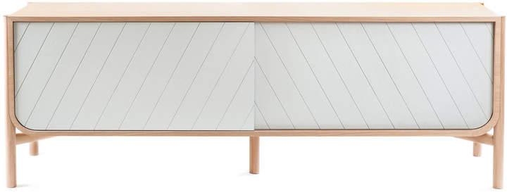 Hartô - Marius Sideboard 185 cm, eiche / lichtgrau (RAL 7035)