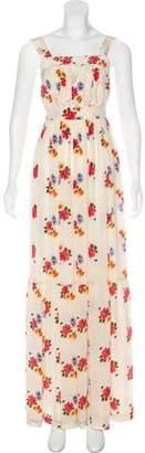Candela Floral Print Silk Dress