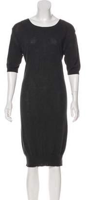 Sacai Knit Knee-Length Dress