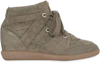Isabel Marant 80mm Bobby Suede Wedge Sneakers
