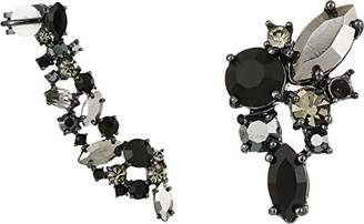 Marchesa Women's Hematite/Jet Mismatch Earrings