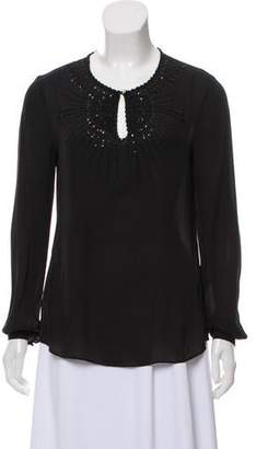 Tory Burch Silk Embellished Top