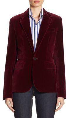 Ralph Lauren Collection Cotton Velvet Jacket $1,490 thestylecure.com