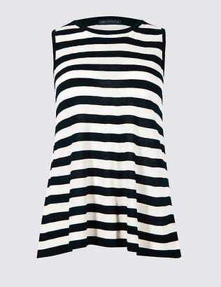 Marks and Spencer Striped Swing Tank Round Neck Jumper