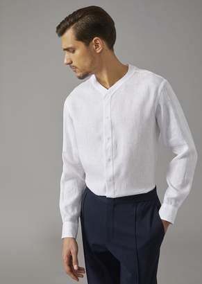 Giorgio Armani Regular Fit Linen Shirt