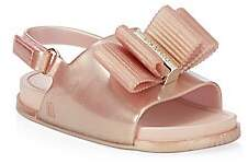 Mini Melissa Baby's Mini Rose Gold Beach Slides Sandals