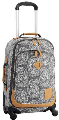 Pottery Barn Teen Northfield Black Paisley Carry On Spinner, Black