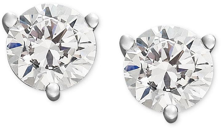 Diamond Earrings, 14k White Gold Certified Diamond Stud Earrings (2 ct. t.w.)