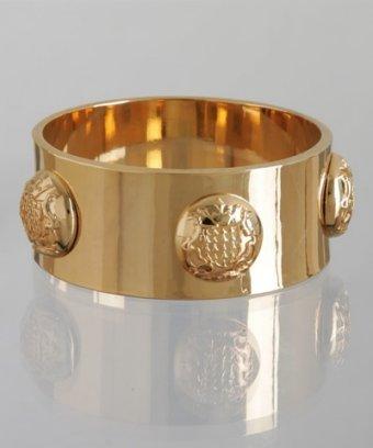 CC Skye gold crest button studded bangle