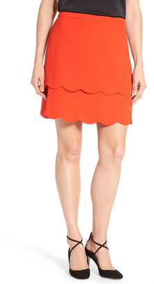 CeCe by Cynthia Steffe Scalloped Tiered Skirt $99 thestylecure.com