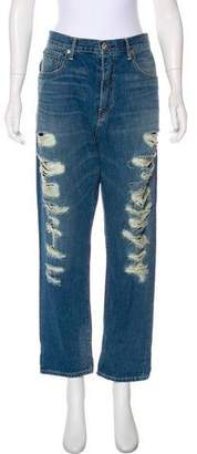 Rag & Bone Mid-RIse Embroidered Jeans