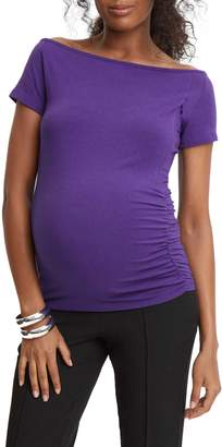 Stowaway Collection Off the Shoulder Maternity/Nursing Top
