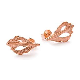 Fly London Chupi - I Can Baby Swan Feather Stud Earnings in Rose Gold
