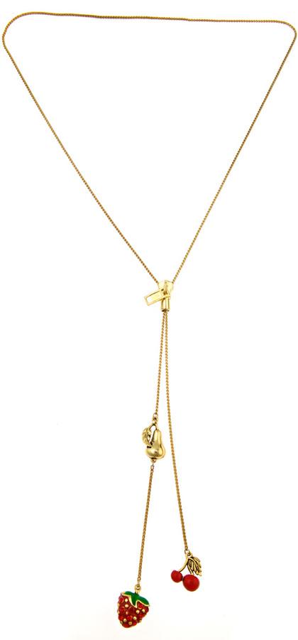Bee Charming Fruit Zipper Lariat Necklace