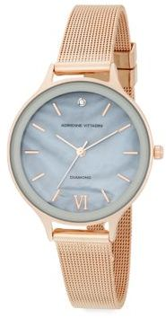 0.01 TCW Diamond Rose Goldtone Bracelet Watch $95 thestylecure.com