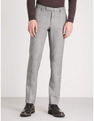 SLOWEAR Slim-fit wool flannel trousers
