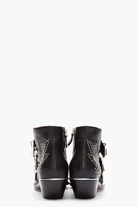 Chloé Black studded Suzanna Boots