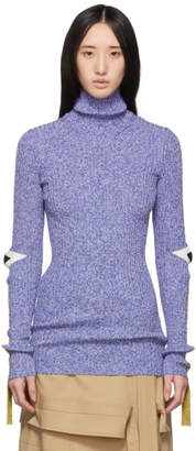 Moncler Genius 2 1952 Blue Knit Turtleneck