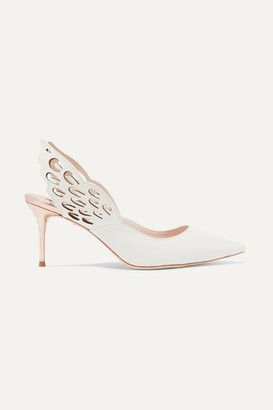 Sophia Webster Angelo Cutout Leather Pumps - White