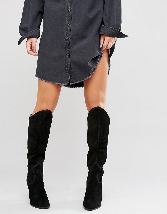 AldoALDO Norerwen Western Heeled Suede Knee boots