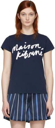 MAISON KITSUNÉ Navy Logo T-Shirt