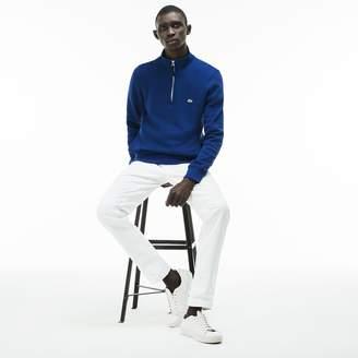 Lacoste Men's Zip Stand-Up Collar Ribbed Sweatshirt