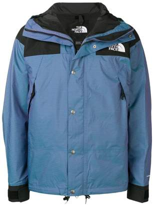 The North Face logo button-up jacket