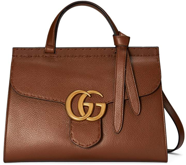 GG Marmont leather top handle