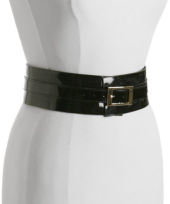 Motif 56 black wide patent leather 'Willa' belt