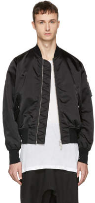 Unravel Black Nylon Basic Bomber Jacket