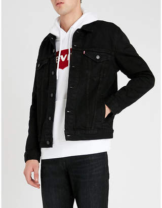 Levi's Embroidered-logo stretch-cotton hoody