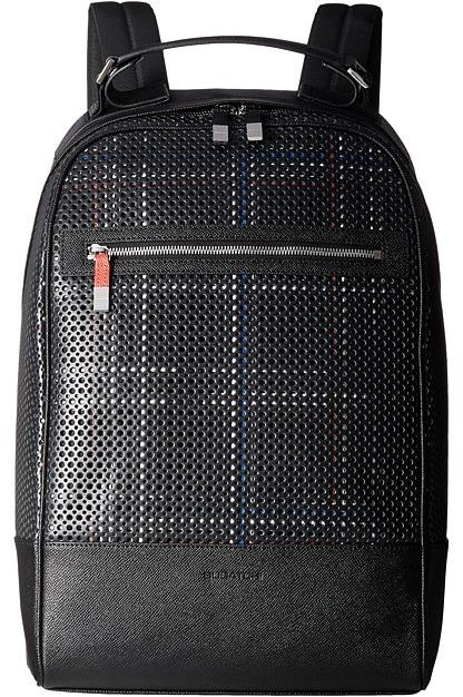 BugatchiBUGATCHI Nylon with Leather Trim Backpack