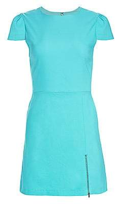 Alice + Olivia Women's Maya Short-Sleeve Side Zip A-Line Dress - Size 0