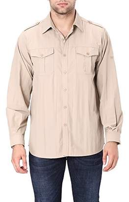 Co Trailside Supply Men's Quick-dry Nylon Breathable Insect-repellent Fishing Shirt Long Sleeve 2X-Large