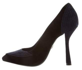 Lanvin Suede Pointed-Toe Pumps w/ Tags