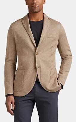 Loro Piana Men's Silk-Cashmere Sweater Jacket - Camel