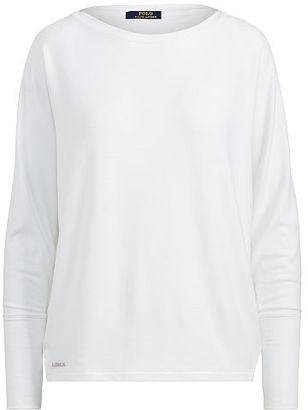 Polo Ralph Lauren Drapey Jersey Long-Sleeve Top $98.50 thestylecure.com