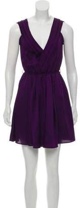Aqua Sleeveless A-Line Dress Purple Sleeveless A-Line Dress