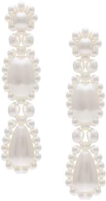 Simone Rocha long pearl earrings