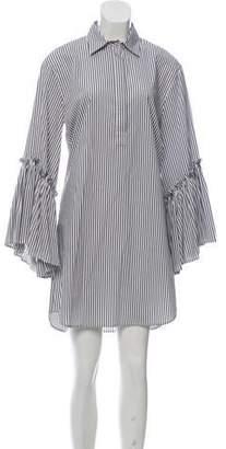 P.A.R.O.S.H. Striped Mini Dress