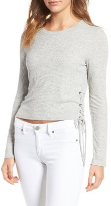 Women's Splendid Lace-Up Ribbed Tee $128 thestylecure.com