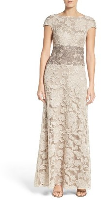 Women's Tadashi Shoji Floral Embroidered Gown $588 thestylecure.com