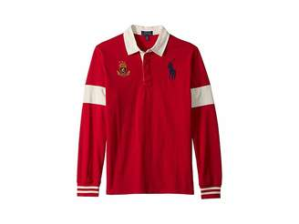 Polo Ralph Lauren Big Pony Cotton Jersey Rugby (Big Kids)