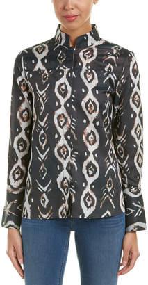 Stevie May Fish Eye Silk-Blend Shirt
