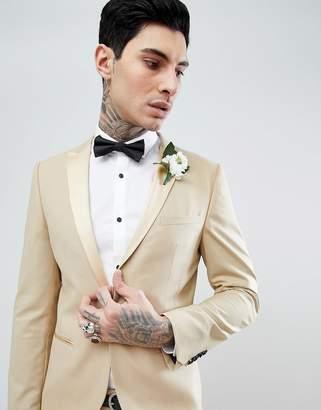 Noose & Monkey Super Skinny Tuxedo Suit Jacket